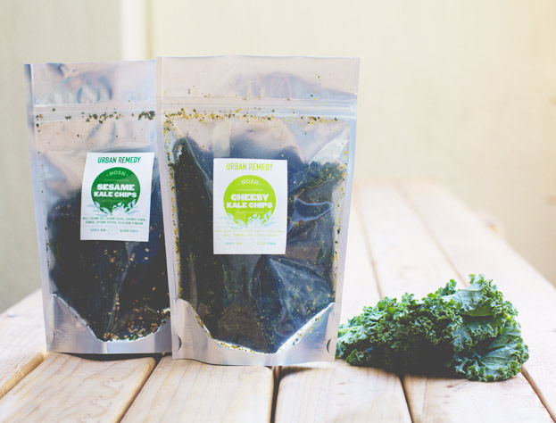Raw kale chips