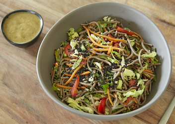 Soba Noodle with Sesame Almond Sauce