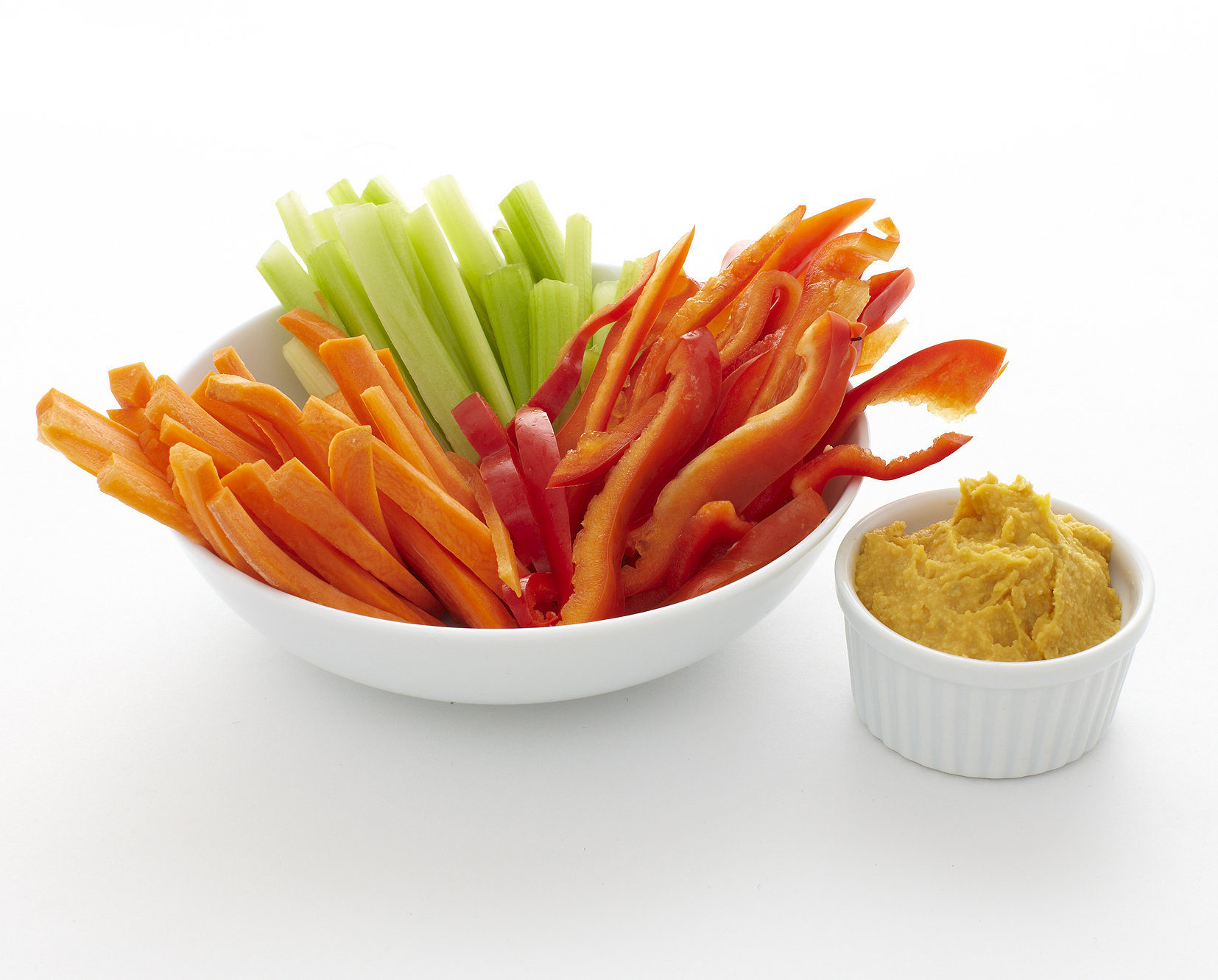 Sweet Potato Hummus with Veggies