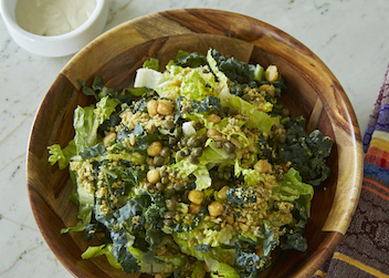 The Vegan Caesar with Cumin Chickpea Croutons