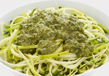 Zucchini Fettuccine Pesto